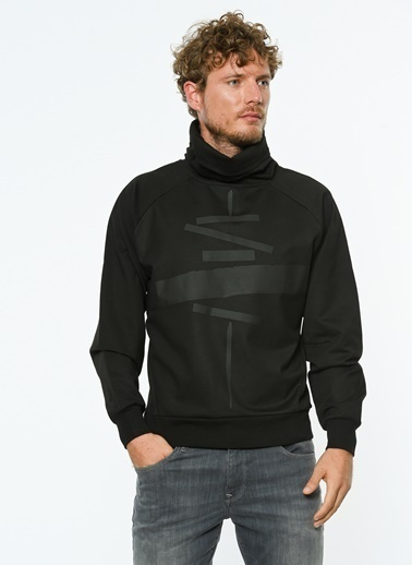 Hyperfolk Polar Sweatshirt Siyah